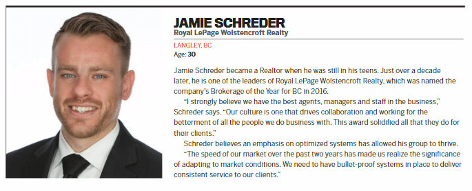 Royal-LePage-Wolstencroft-Langley-BC-Jamie Schreder Makes REP Young Guns 2017