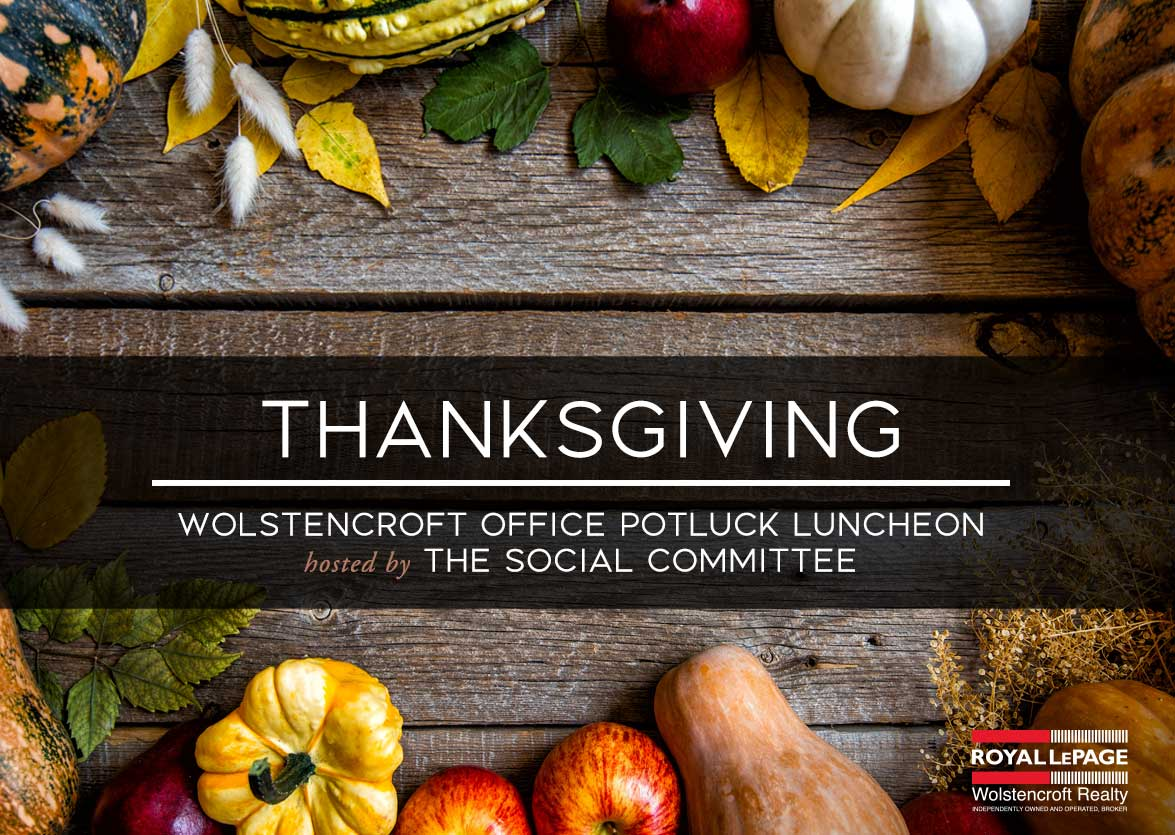 Royal LePage Wolstencroft Office Thanksgiving Luncheon a Success