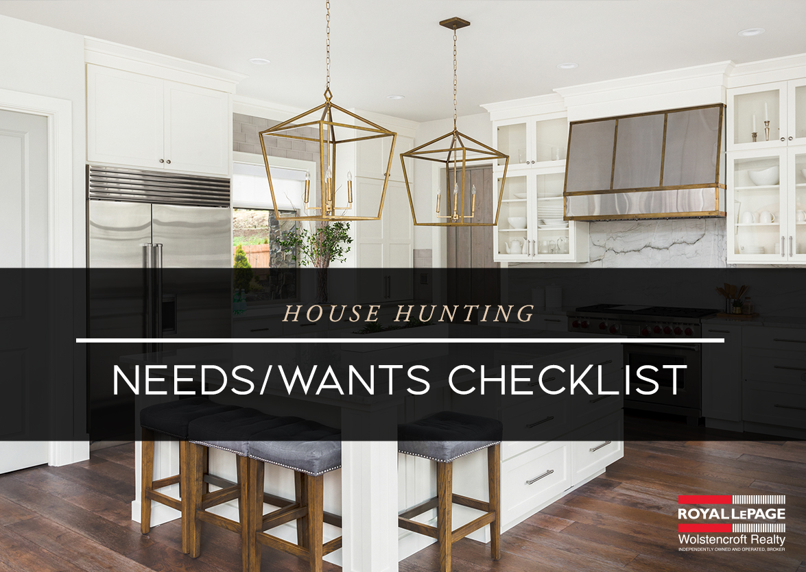 House Hunting Needs/Wants Checklist
