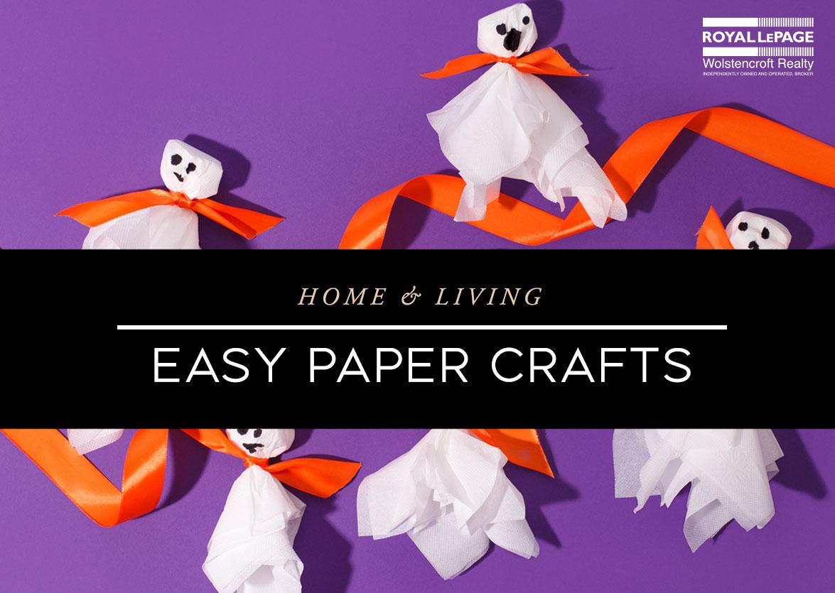 Easy Halloween Paper Crafts